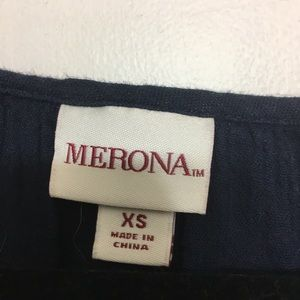 Navy blue tunic top from Merona